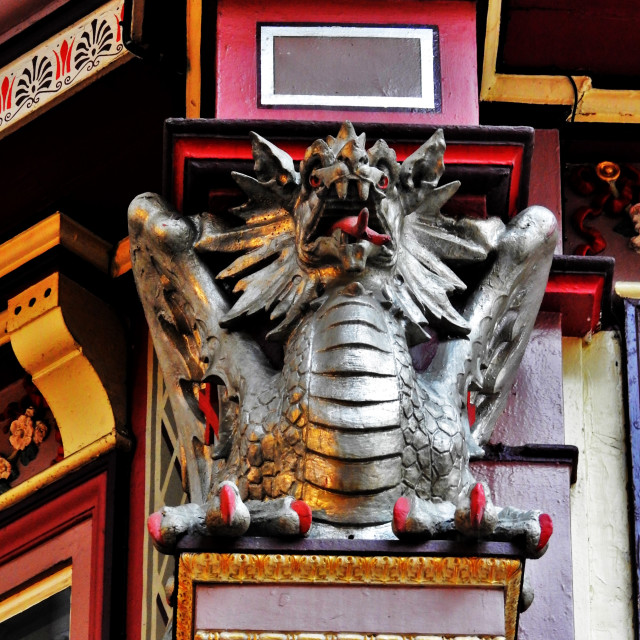 """Leadenhall Dragon"" stock image"
