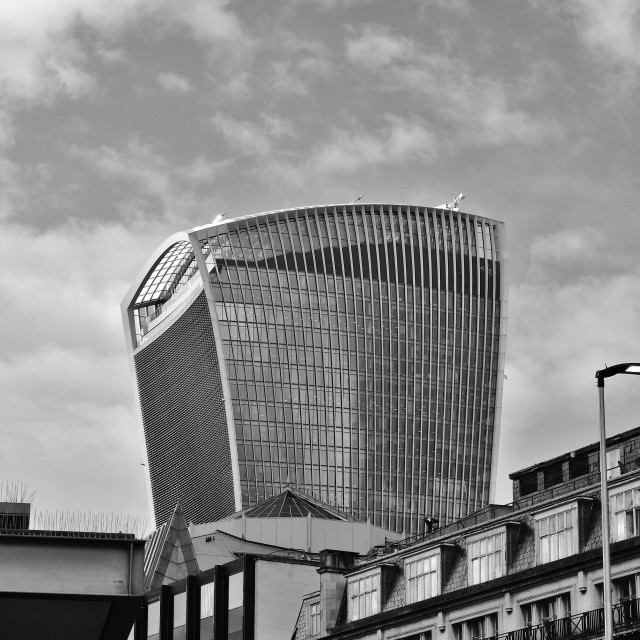 """Walkie Talkie Building"" stock image"