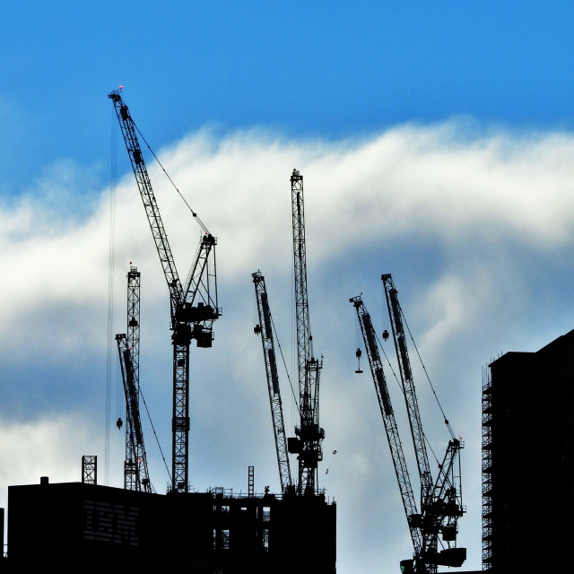 """Crane Skyline"" stock image"