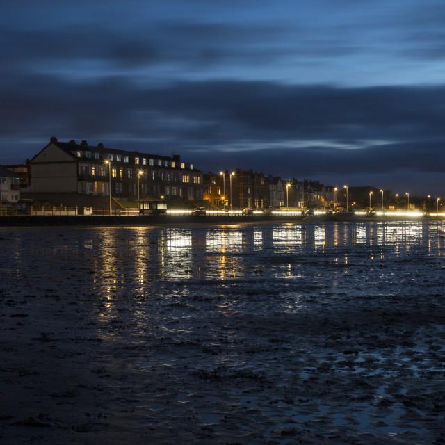 """Hoylake Promenade Blue Hour"" stock image"