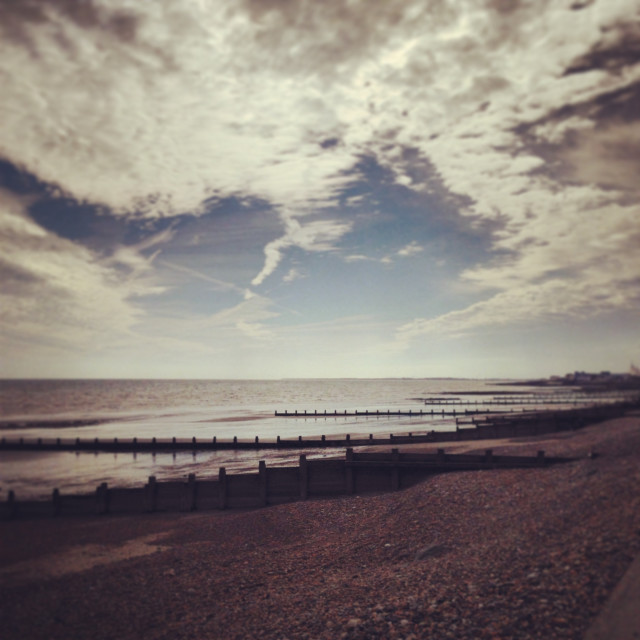 """""""Seafront in the Sunshine"""" stock image"""