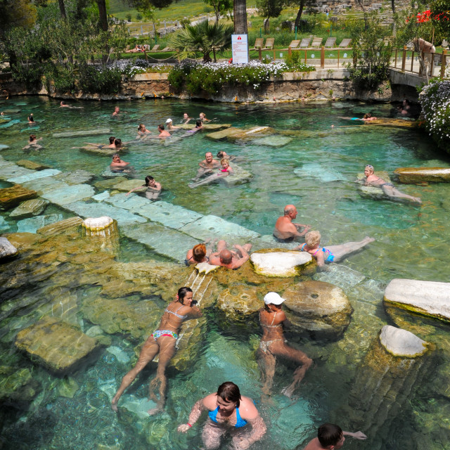 """The Cleopatra pool"" stock image"