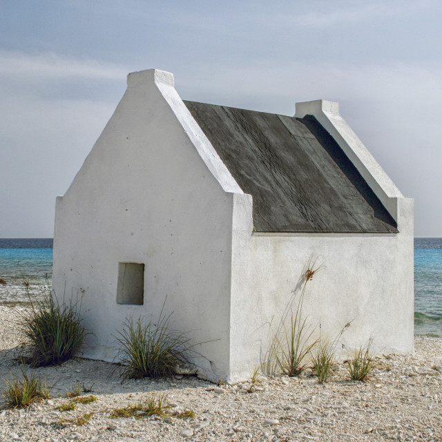 """Historical slave houses on Bonaire"" stock image"