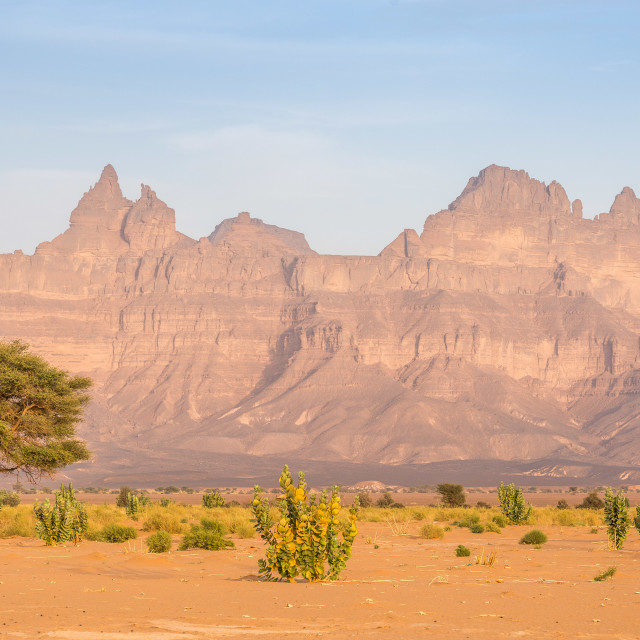 """The Acacus Mountains"" stock image"