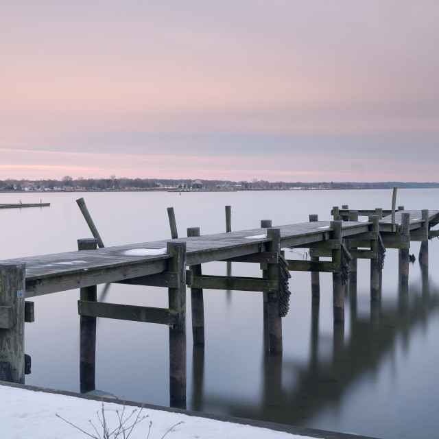 """Abandoned Pier"" stock image"