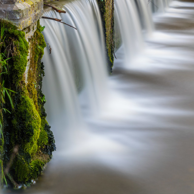 """Moss and Waterfalls"" stock image"