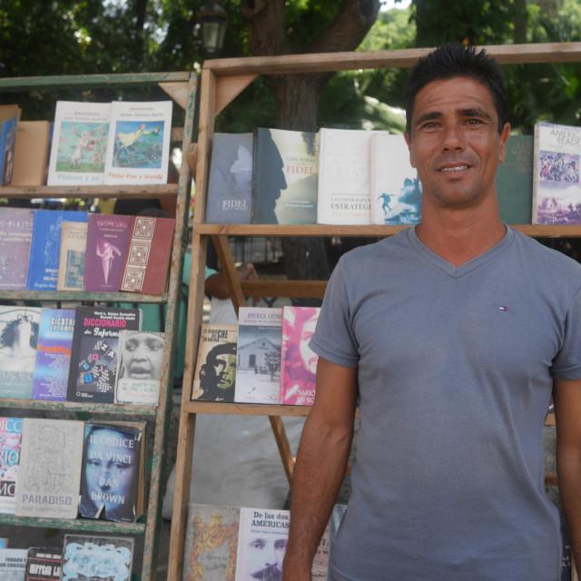 """Cuban bookseller"" stock image"