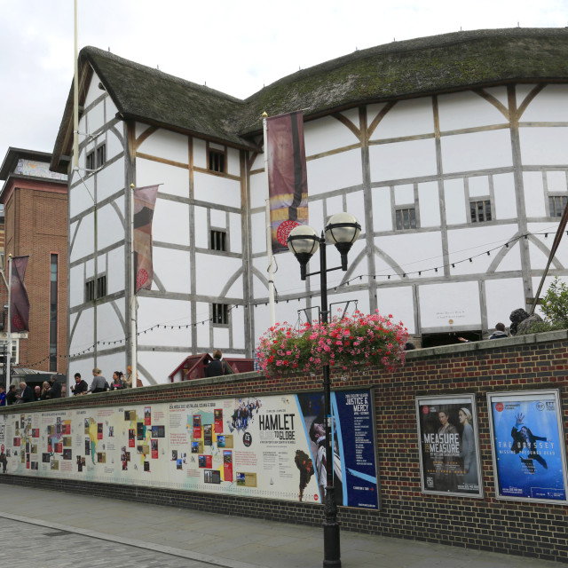 """Shakespeares Globe Theatre, Bankside, Southwark, South Bank, London City,..."" stock image"