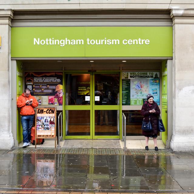 """Nottingham Tourist Information Centre"" stock image"