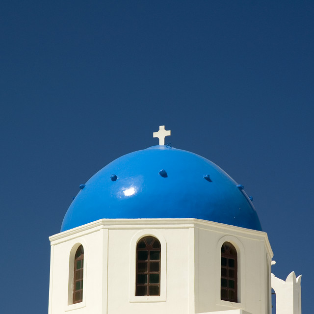 """Greek Church Dome"" stock image"