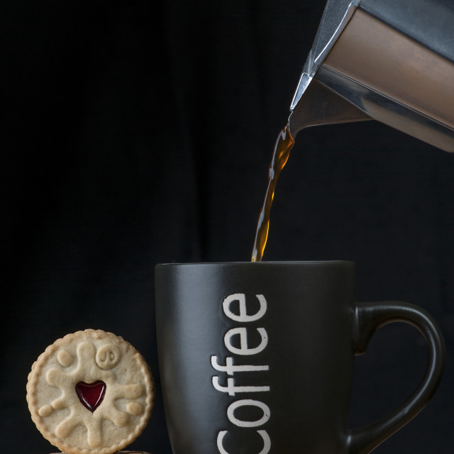 """coffee and biscuits"" stock image"