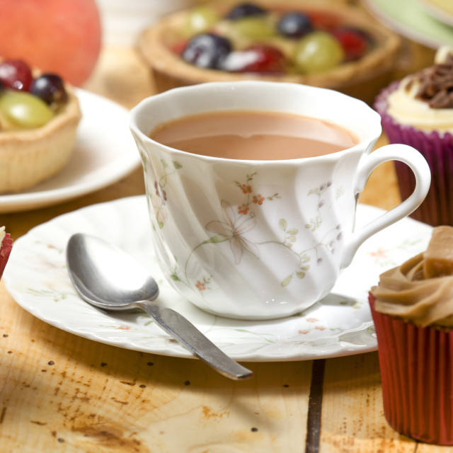 """tea and treats"" stock image"