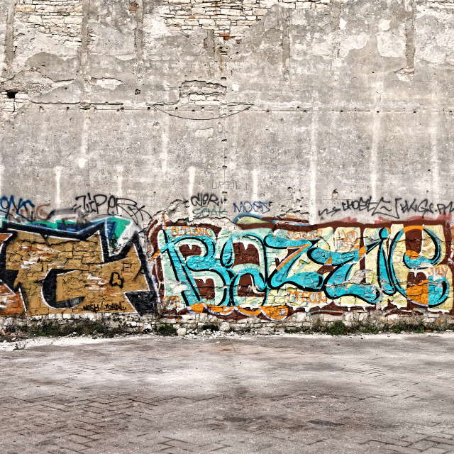 """Colorful abstract graffiti"" stock image"