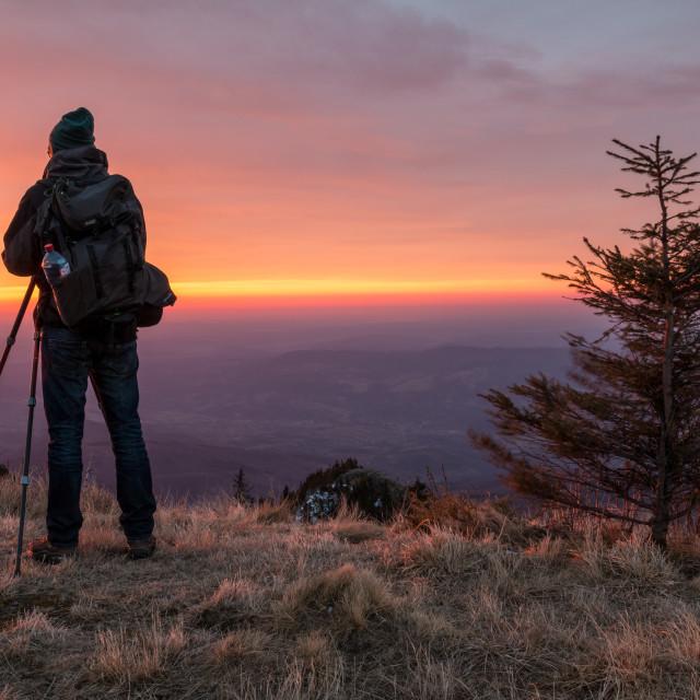"""Landscape Photographer"" stock image"