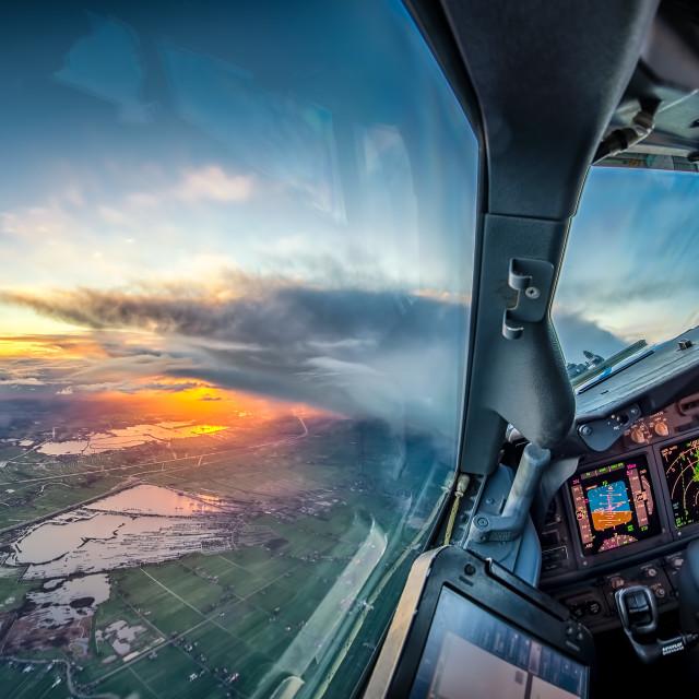 """""""Sunrise over Vinkeveen"""" stock image"""