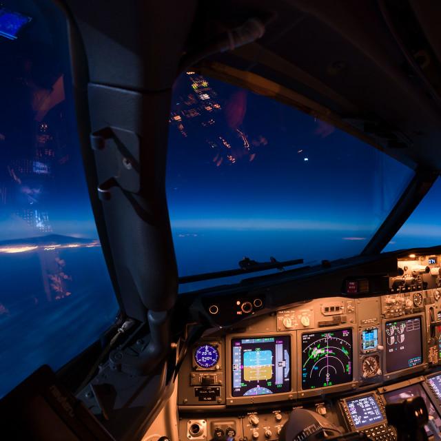 """Descent to Tenerife"" stock image"