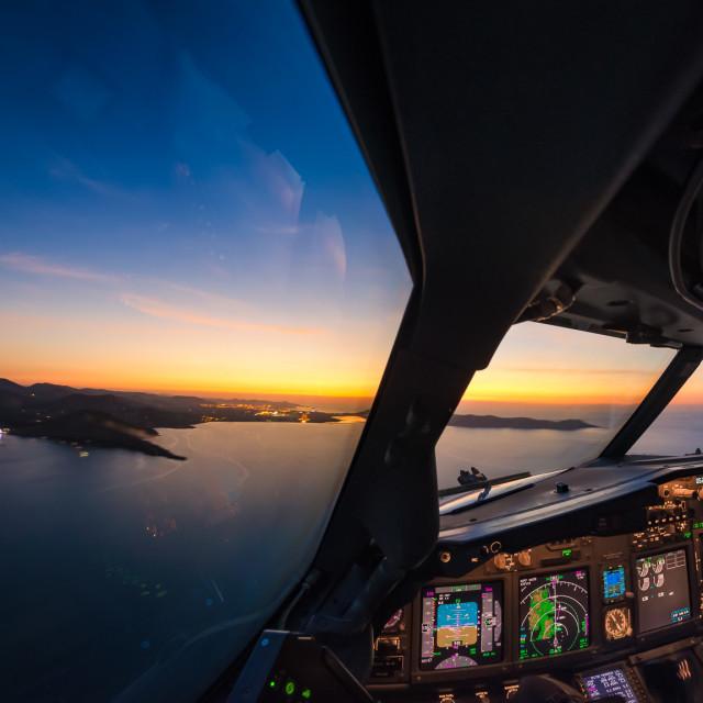 """""""Approaching Ibiza"""" stock image"""