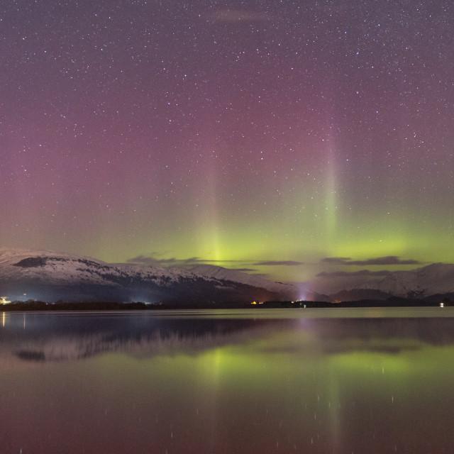 """The Aurora Over Loch Lomond"" stock image"