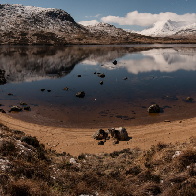 """Lochan na-h Achlaise"" stock image"