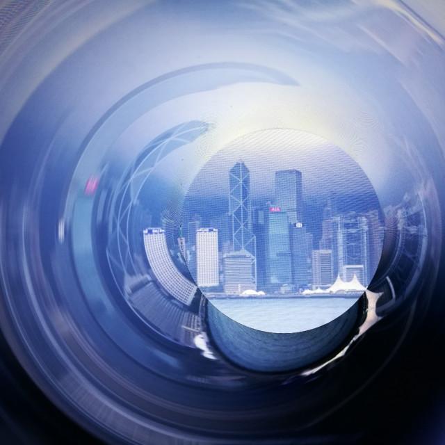 """Hong Kong Swirl"" stock image"