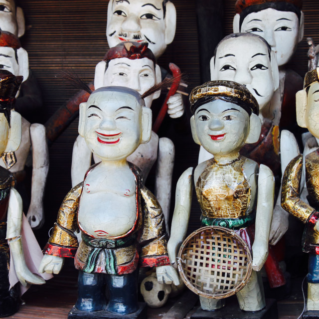"""Water puppets, Hanoi"" stock image"