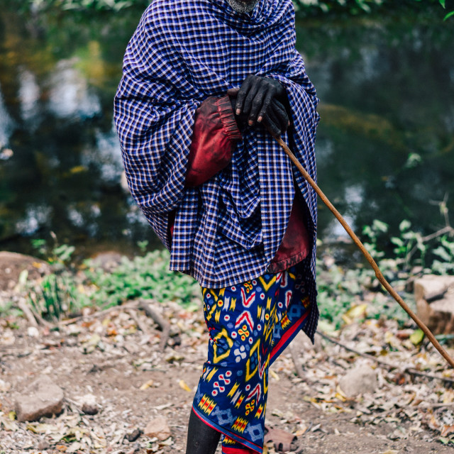 """Samburu Elder"" stock image"