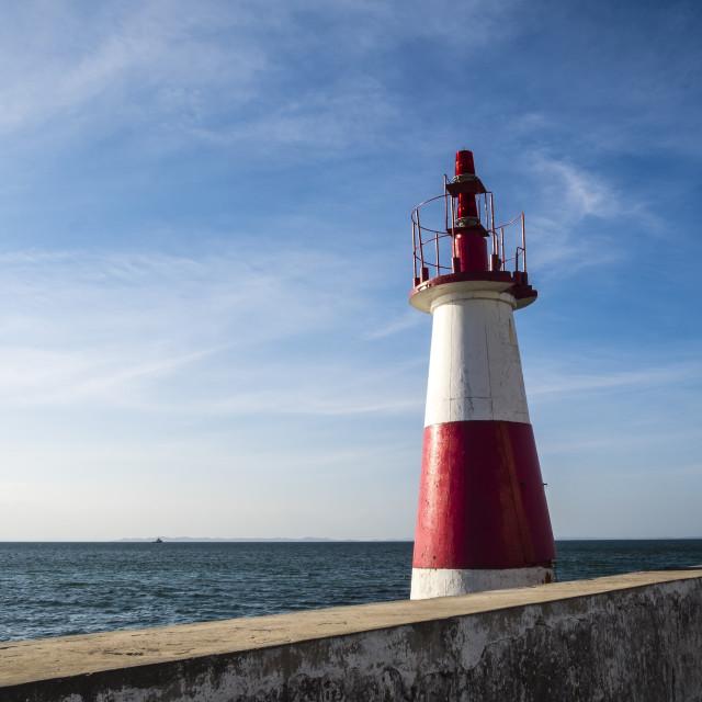 """""""Coast Todos los Santos Bay in Salvador do Bahia"""" stock image"""