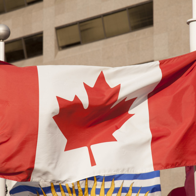 """Canada flag"" stock image"
