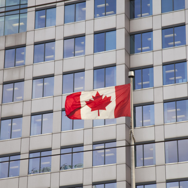 """Canada flag, city of Toronto"" stock image"