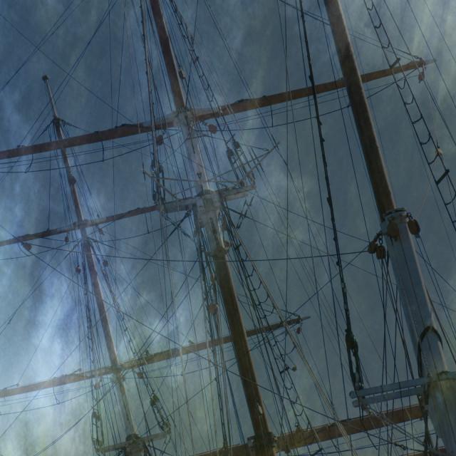 """Tall masts"" stock image"