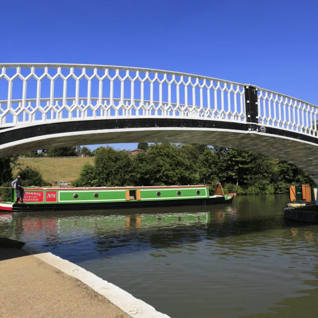 """""""Narrowboats at Braunston Marina, Grand Union canal, Braunston village,..."""" stock image"""