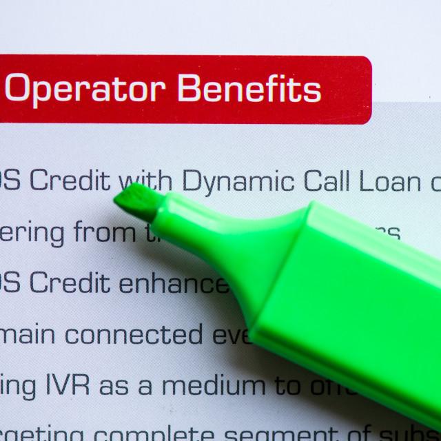 """operator benefits"" stock image"