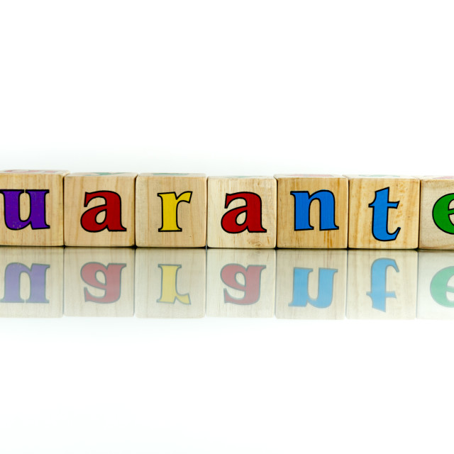 """guarantee"" stock image"