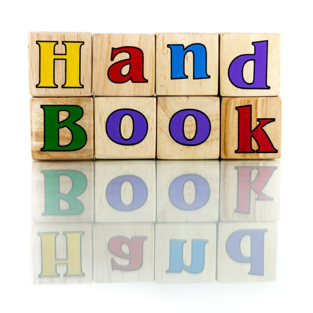 """handbook"" stock image"