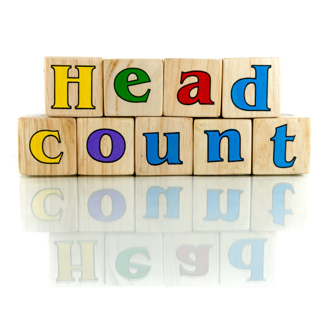 """head count"" stock image"
