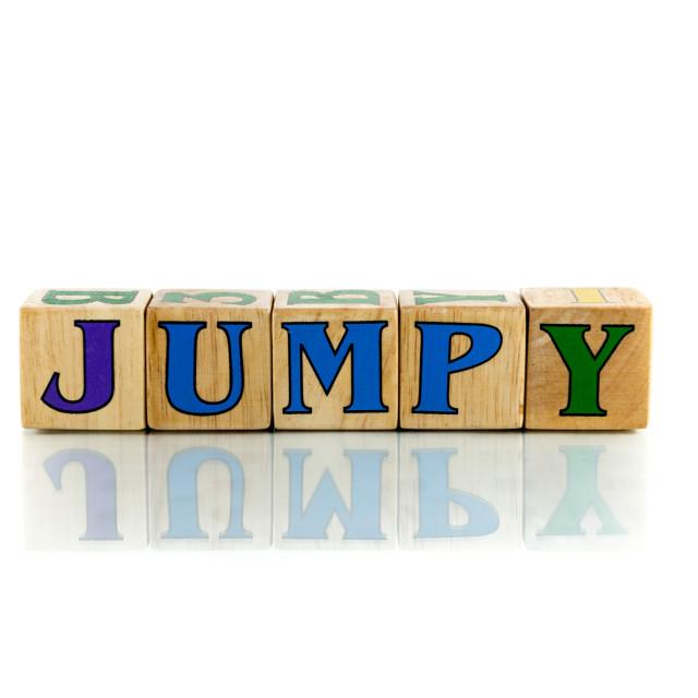 """jumpy"" stock image"