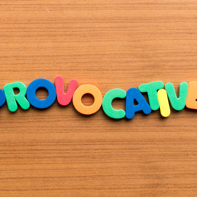 """""""provocative colorful word"""" stock image"""