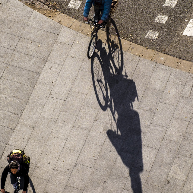 """""""Bicycle transport in Barcelona"""" stock image"""