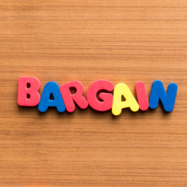 """""""bargain colorful word"""" stock image"""