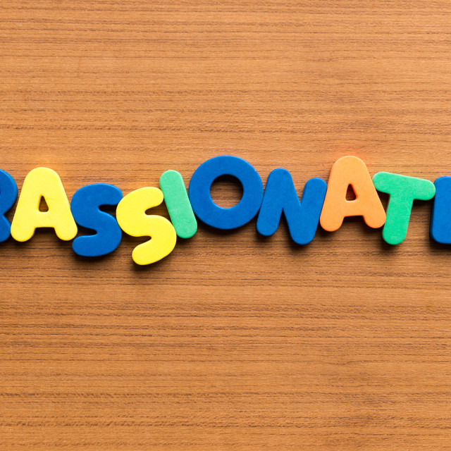 """passionate colorful word"" stock image"