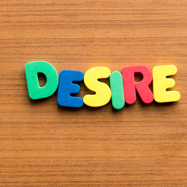 """desire colorful word"" stock image"