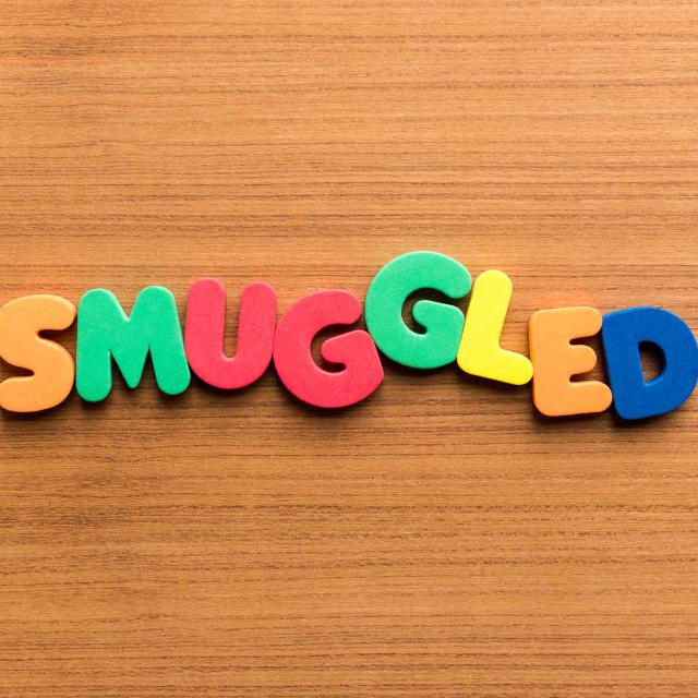 """smuggled colorful word"" stock image"