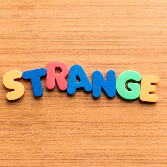"""strange colorful word"" stock image"
