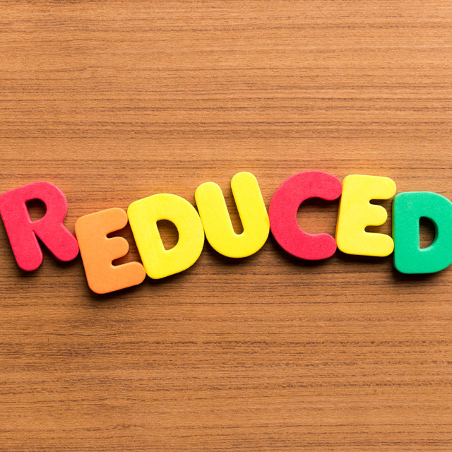 """reduced colorful word"" stock image"