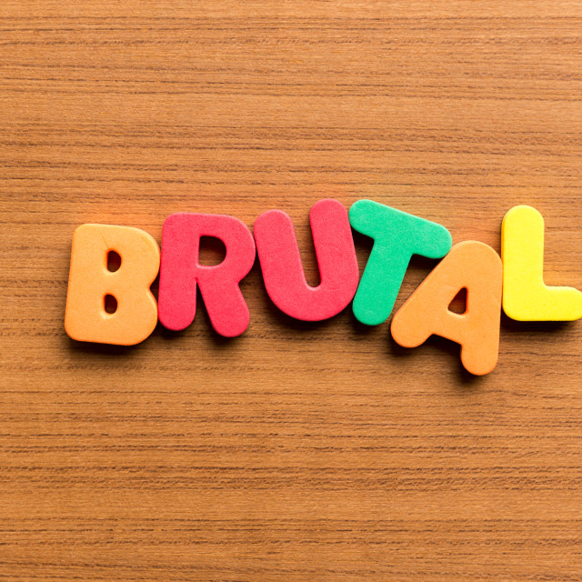 """""""brutal colorful word"""" stock image"""