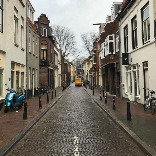 """Utrecht side-street"" stock image"