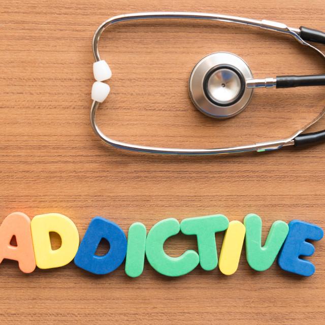 """addictive medical word"" stock image"