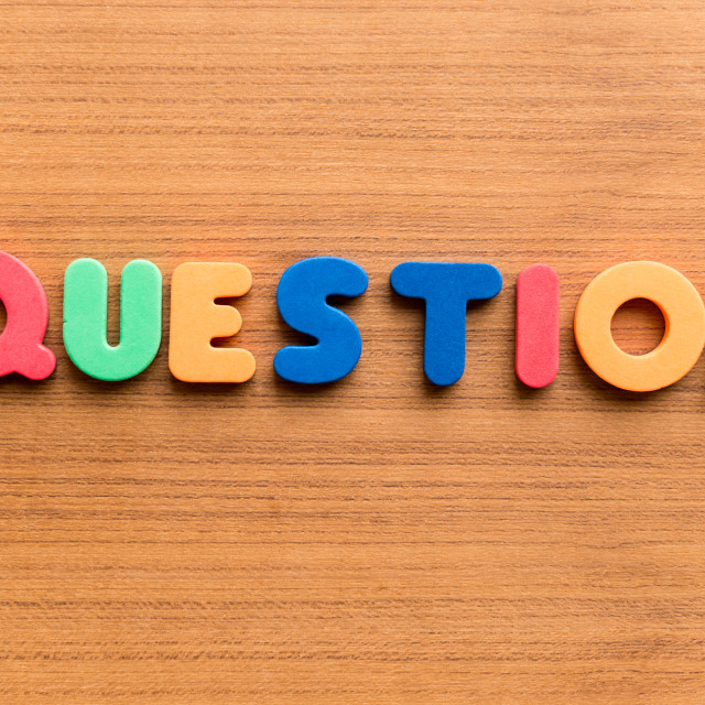 """""""question colorful word"""" stock image"""