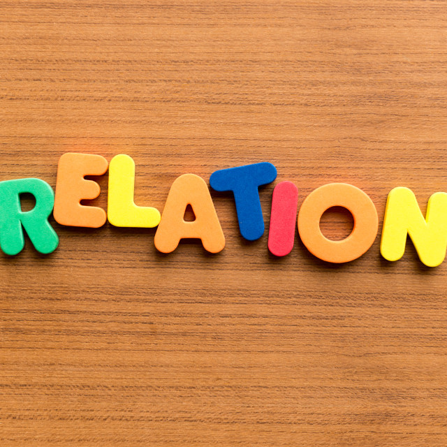 """""""relation colorful word"""" stock image"""