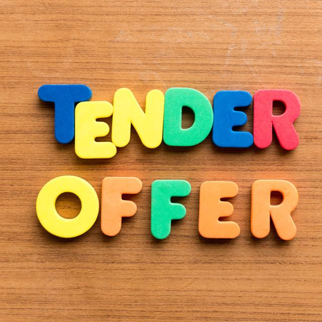 """""""tender offer"""" stock image"""